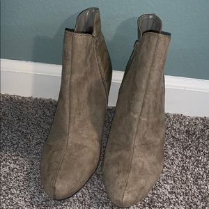Tan/Cream colored booties by express